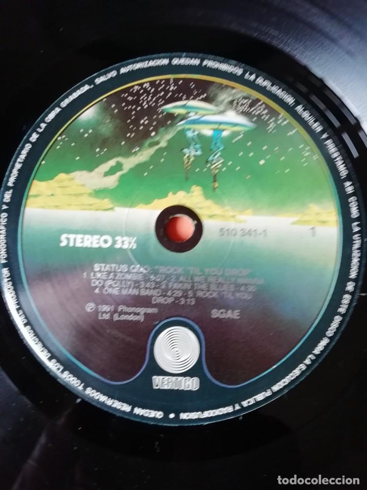 Discos de vinilo: STATUS QUO. ROCKTIL YOU DROP. VERTIGO RERCORDS 1991 - Foto 4 - 196842192
