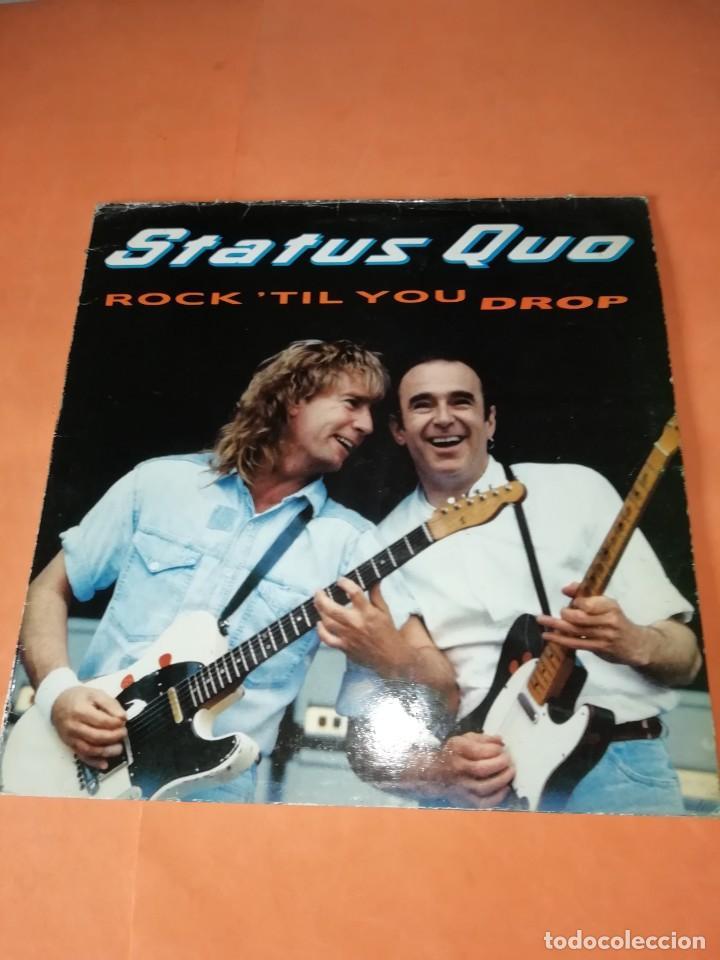 STATUS QUO. ROCK'TIL YOU DROP. VERTIGO RERCORDS 1991 (Música - Discos - LP Vinilo - Pop - Rock Extranjero de los 90 a la actualidad)