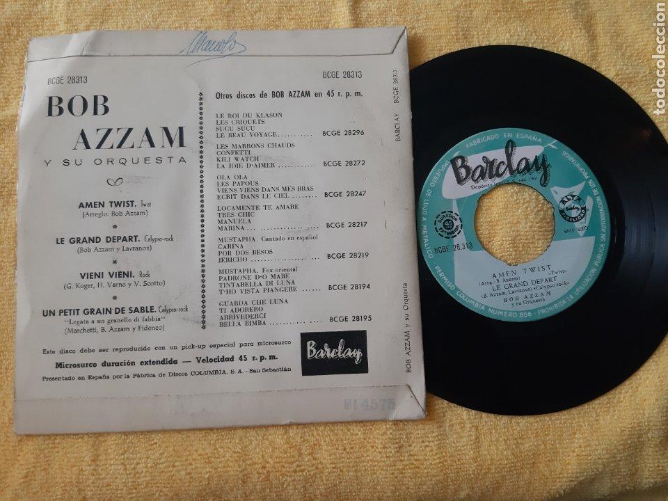 Discos de vinilo: Raro. BOB AZZAM Y SU ORQUESTA. BARCLAY. ESPAÑA. AMEN TWIST. LE GRAND DEPART + 2 TEMAS. - Foto 2 - 196866162