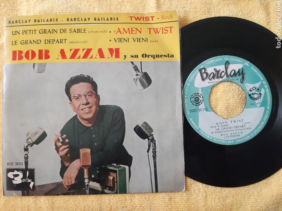 RARO. BOB AZZAM Y SU ORQUESTA. BARCLAY. ESPAÑA. AMEN TWIST. LE GRAND DEPART + 2 TEMAS. (Música - Discos de Vinilo - EPs - Orquestas)