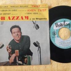 Discos de vinilo: RARO. BOB AZZAM Y SU ORQUESTA. BARCLAY. ESPAÑA. AMEN TWIST. LE GRAND DEPART + 2 TEMAS.. Lote 196866162