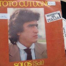 Dischi in vinile: SINGLE ( VINILO) DE THE TOTO CUTUGNO AÑOS 80. Lote 196870488