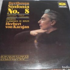 Discos de vinilo: LP DEUTSCHE GRAMMOPHON PRIVILEGE. BEETHOVEN SINFONÍA N. 8 HERBERT VON KARAJAN. FILARMÓNICA DE BERLÍN. Lote 196876407