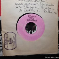 Discos de vinilo: THE BEATLES JOHN LENNON WOMAN 1ª CONVENCION EUROPEA VALENCIA 18 MARZO 1981 ESPAÑA SPAIN. Lote 196880026