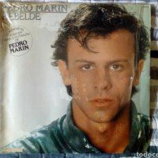 Discos de vinilo: PEDRO MARÍN - REBELDE (CON PÓSTER). Lote 196890331