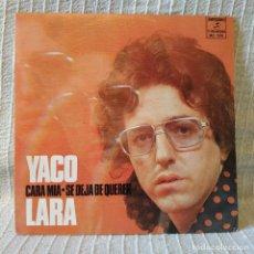 Discos de vinilo: YACO LARA - CARA MIA / SE DEJA DE QUERER -SINGLE PROMO SELLO COLUMBIA AÑO 1973 INMACULADO ESTADO. Lote 196895397