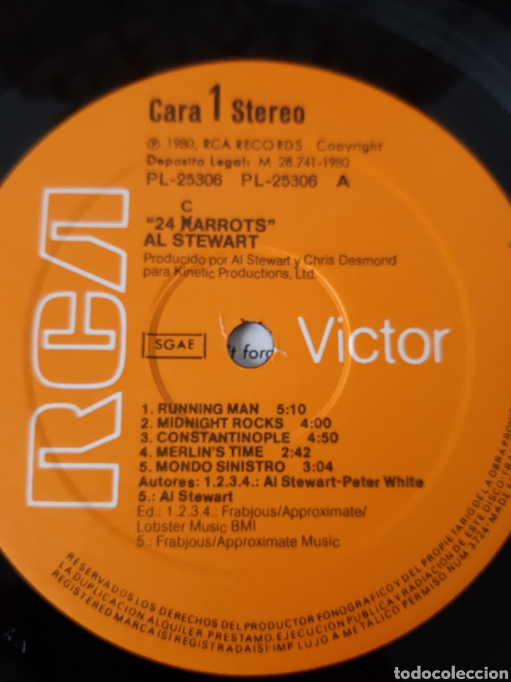 Discos de vinilo: AL STEWART. SHOT IN THE DARK. 1989. RCA. VICTOR. - Foto 4 - 196904503