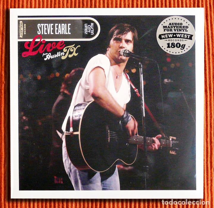 STEVE EARLE - LIVE FROM AUSTIN TX VINILO 180GR 2LP NUEVO Y PRECINTADO (Música - Discos de Vinilo - Maxi Singles - Country y Folk)