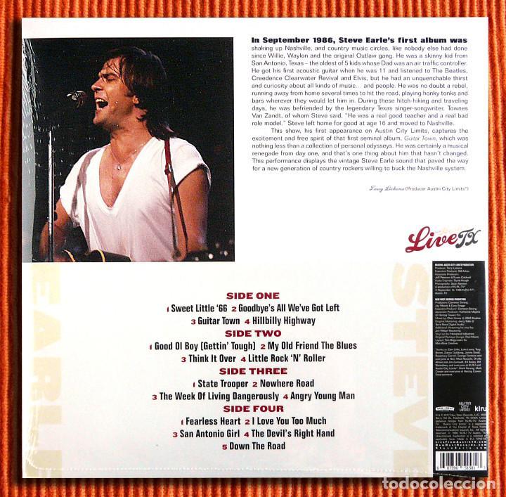 Discos de vinilo: STEVE EARLE - LIVE FROM AUSTIN TX Vinilo 180gr 2LP Nuevo y Precintado - Foto 2 - 196909418