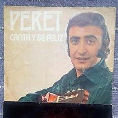 Discos de vinilo: LOTE 2 SINGLES DE PERET. Lote 196914337