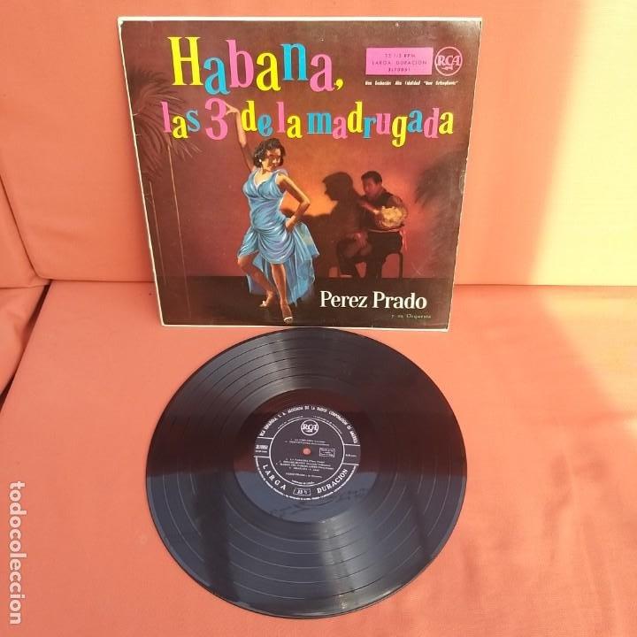 Discos de vinilo: HABANA, LAS 3 DE LA MADRUGADA. PEREZ PRADO Y SU ORQUESTA. RCA, 1958 - Foto 3 - 196931385