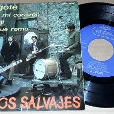 Disques de vinyle: EP- LOS SALVAJES - MI BIGOTE / FUERA DE MI CORAZÓN / VIVIR SIN TI / EL BOTE QUE REMO - LOS SALVAJES. Lote 196952787