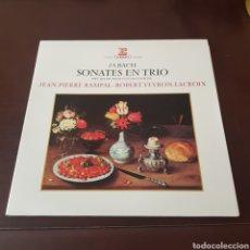 Discos de vinilo: J.S. BACH SONATES EN TRIO - JEAN PIERRE RAMPAL - ROBERT VEYRON LACROIX. Lote 196971012