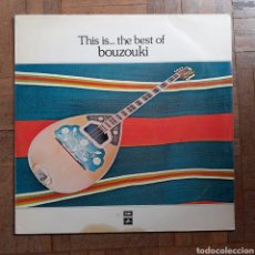 Discos de vinilo: THIS IS THE BEST OF BOUZOUKI. INSTRUMENTAL. EMI 14C 026 - 71180. 1981 GRECIA. FUNDA VG+. DISCO VG++.. Lote 196975187