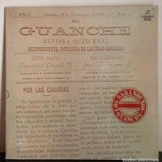 Discos de vinilo: EL GUANCHE - LOS SABANDEÑOS - COLUNBIA 1977 NODED IN SPAIN. Lote 196977926