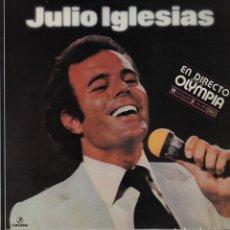 Disques de vinyle: JULIO IGLESIAS EN CONCIERTO DIRECTO DESDE EL TEATRO OLYMPIA DE PARÍS DE 1978 . Lote 196981752