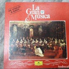 Discos de vinilo: LA GRAN MÚSICA DE VIVALDI A BACH (CONTIENEUN LIBRO). Lote 197025681