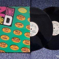 Discos de vinilo: ZONA D BAILE - L.P DOBLE EDITADO POR EMI. AÑO 1.991 (VARIOS ARTISTAS Y 23 CANCIONES). Lote 197040572