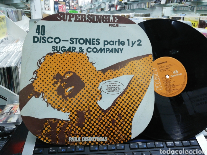 DISCO-STONES PARTE 1 Y 2 MAXI SUGAR & COMPANY ESPAÑA 1978 (Música - Discos de Vinilo - Maxi Singles - Disco y Dance)