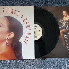 Discos de vinilo: LOLA FLORES - HOMENAJE. LP. EDITADO POR CBS. AÑO. 1.990. VIENE CON LA LETRA DE LAS CANCIONES. Lote 207203656