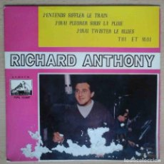 Disques de vinyle: RICHARD ANTHONY - J'ENTENDS SIFFLER LE TRAIN + 3. Lote 197060097