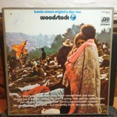 Discos de vinilo: BANDA SONORA ORIGINAL Y ALGO MÁS WOODSTOCK. Lote 197063913