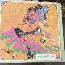 Discos de vinilo: CARPETA 10 DISCOS FIESTA EXITOS MUSICALES AÑOS 1930 1960 RARO. Lote 197077325
