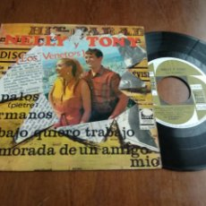 Discos de vinilo: NELLY Y TONY LOS VENETOS ENAMORADA DE UN AMIGO MIO/HERMANOS +2 EP 1967 CEM LOS TNT SPAIN ESPAÑA. Lote 197094468