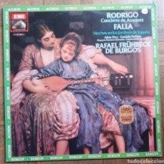 Discos de vinilo: CONCIERTO DE ARANJUEZ. ALIRIO DIAZ. EMI10C 037-000731. ESPAÑA 1968 RE 1982.. Lote 197117400