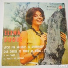 Disques de vinyle: ELENA DUQUE CHICA YE-YÉ EP (RCA, 1964) VERSIÓN SYLVIE VARTAN + 3. Lote 197127775