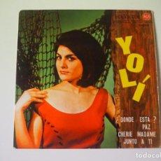 Disques de vinyle: CHICA YE-YÉ YOLÍ EP (RCA, 1963) JUNTO A TÍ + 3 VERSIÓN ESPAÑOLA DE SEN VA ANAR RARO. Lote 197128740