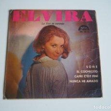 Disques de vinyle: CHICA YE-YÉ ELVIRA LA VOZ NARANJA EP BERTA, 1965 EL COCHECITO (BRINCOS) + 3. Lote 197129376