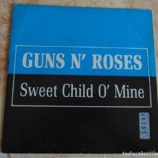 Discos de vinilo: GUNS N' ROSES – SWEET CHILD O' MINE - SINGLE PROMO 1989. Lote 197163572