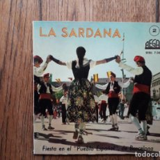 Discos de vinilo: LA SARDANA N° 2 - FIESTA EN EL PUEBLO ESPAÑOL DE BARCELONA. Lote 197174521