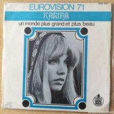 Discos de vinilo: KARINA, EN UN MUNDO NUEVO, CANTA EN FRANCES. Lote 197175417
