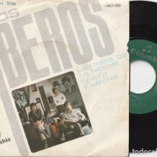 Disques de vinyle: LOS IBEROS - LAS TRES DE LA NOCHE (SINGLE COLUMBIA 1968). Lote 197214361