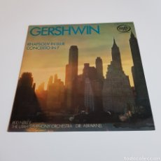 Discos de vinilo: GERSHWIN - RHAPSODY IN BLUE - RED NIBLEY THE UTAH SYMPHONY ORCHESTRA - DIR : ABRAVANEL. Lote 197224403