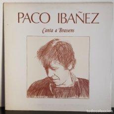 Discos de vinilo: PACO IBAÑEZ CANTA A BRASSENS - ARIOLA 1979. Lote 197226542