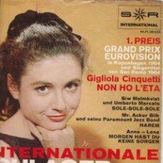 Discos de vinilo: EP INTERNATIONALE SCHLAGER-PALETTE GIGLIOLA CINQUETTI 1 PREIS GRAND PRIX EUROVIISON +3 SR INTERNATIO. Lote 197227325