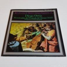 Discos de vinilo: DIEGO ORTIZ - RECERDADAS DEL TRATADO DE GLOSSAS - COLECCION MUSICA ANTIGUA ESPAÑOLA. Lote 197228802