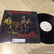 Discos de vinilo: MINI LP- - IMPREVISIBLES - BEBERTE (SPAIN, PERTEGAS RECORDS 1989) . Lote 197229763