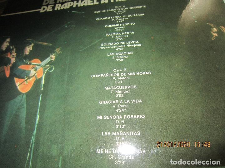Discos de vinilo: RAPHAEL - Y LOS GEMELOS - CONCIERTO HISPANOAMERICANO LP - ORIGINAL ESPAÑOL - HISPAVOX 1975 - ESTEREO - Foto 4 - 197275176
