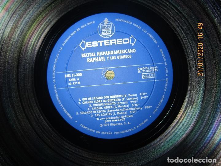 Discos de vinilo: RAPHAEL - Y LOS GEMELOS - CONCIERTO HISPANOAMERICANO LP - ORIGINAL ESPAÑOL - HISPAVOX 1975 - ESTEREO - Foto 6 - 197275176