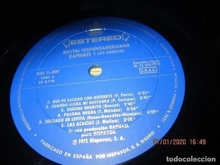 Discos de vinilo: RAPHAEL - Y LOS GEMELOS - CONCIERTO HISPANOAMERICANO LP - ORIGINAL ESPAÑOL - HISPAVOX 1975 - ESTEREO - Foto 7 - 197275176