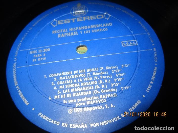 Discos de vinilo: RAPHAEL - Y LOS GEMELOS - CONCIERTO HISPANOAMERICANO LP - ORIGINAL ESPAÑOL - HISPAVOX 1975 - ESTEREO - Foto 9 - 197275176