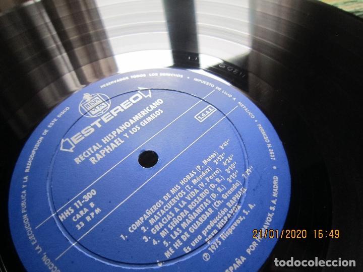 Discos de vinilo: RAPHAEL - Y LOS GEMELOS - CONCIERTO HISPANOAMERICANO LP - ORIGINAL ESPAÑOL - HISPAVOX 1975 - ESTEREO - Foto 10 - 197275176