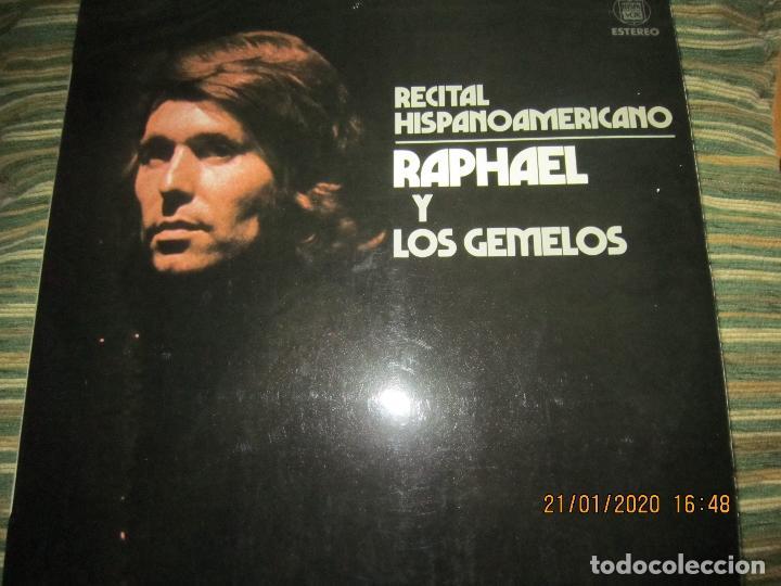 RAPHAEL - Y LOS GEMELOS - CONCIERTO HISPANOAMERICANO LP - ORIGINAL ESPAÑOL - HISPAVOX 1975 - ESTEREO (Música - Discos - LP Vinilo - Solistas Españoles de los 50 y 60)