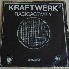 Disques de vinyle: KRAFTWERK– RADIOACTIVITY - SINGLE 1976. Lote 197288328