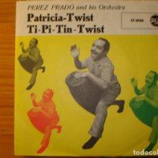 Discos de vinilo: PÉREZ PRADO PATRICIA TWIST SINGLE. Lote 197294141