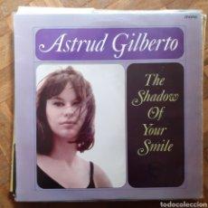 Discos de vinilo: ASTRUD GILBERTO. THE SHADOW OF YOUR SIMPLE. MONO. VERVE VLP 9107. UK 1965. FUNDA VG++. DISCO VG++.. Lote 197301030